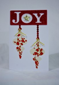 Hanging Ornaments Christmas Card