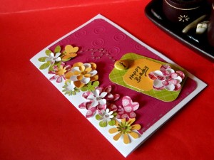many flowers card