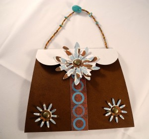 Blue_brown handbag card