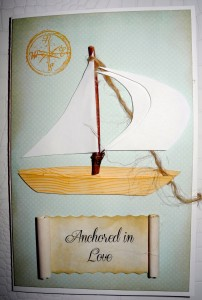 Sailboat wedding card